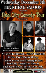 Steel City Comedy Tour-December 5th @ Buckheads Saloon