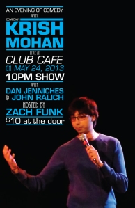 An Evening of Comedy with Krish Mohan at Club Cafe