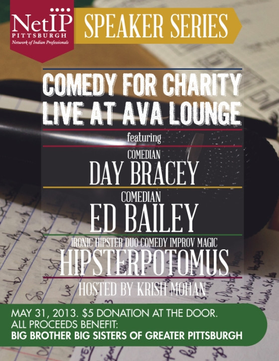 NetIP Pittsburgh Speaker Series Flyer-COMEDY FOR CHARITY