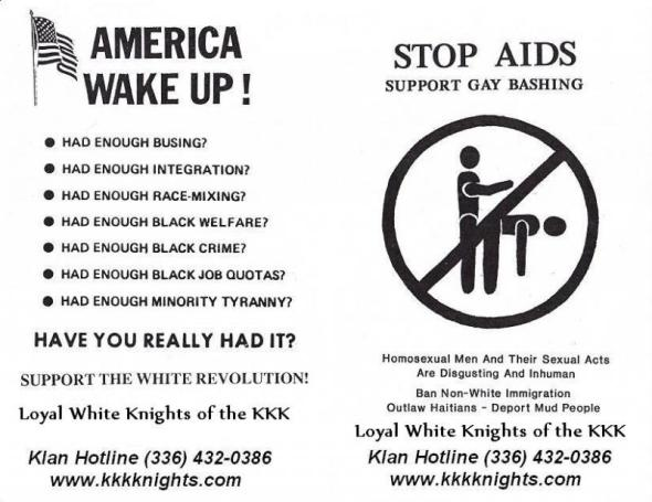 Terrible KKK Flyer