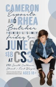 Cameron Esposito and Rhea Butcher in Ft. Wayne